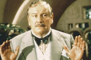 Peter Ustinov as Poirot in the EMI  productions